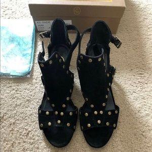 Ash Footwear suede black sandals size 6